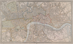 A new plan of London and Westminster, with the borough of Southwark, &c. (1837)
